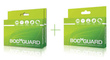BODYGUARD NATURAL ANTI-MOSQUITO PATCH-PACK OF 2+1 FREE