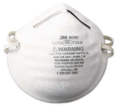 3M N95 8000 PARTICLE RESPIRATOR MASK (PACK OF 5)